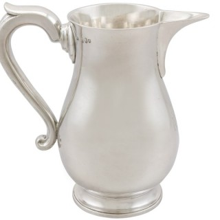 Irish Sterling Silver Beer / Water Jug - Antique George III (1794)