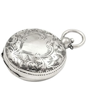 Antique Edwardian Sterling Silver Sovereign Case 1909