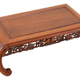 19th Century Oriental Hardwood Opium Coffee Table