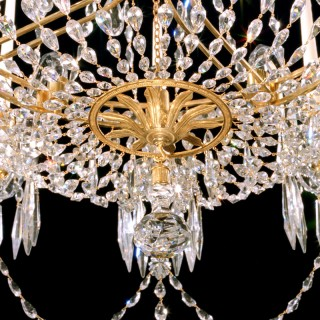 AN EXTREMELY RARE ENGLISH REGENCY PERIOD ANTIQUE CHANDELIER OF UNUSUAL DESIGN