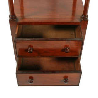 Georgian Two Drawer Whatnot