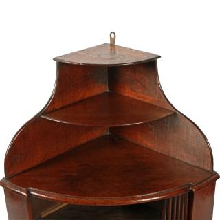 18th Century Dutch Oak Corner Cupboard