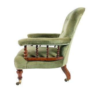 Hindley & Son Walnut Easy Chair
