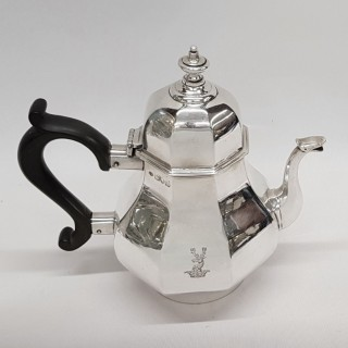 Queen Anne Style Silver Teapot