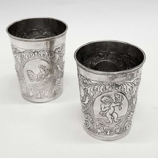 Antique Russian Silver Beakers