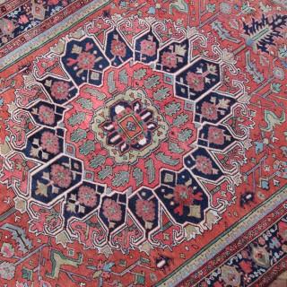 Rare small size antique Heriz carpet