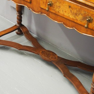 George II Style Burr Walnut Bookcase on Stand