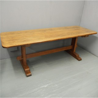 Victorian Pitch Pine Refectory Table