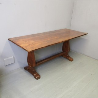 Gothic Style Oak Refectory Table