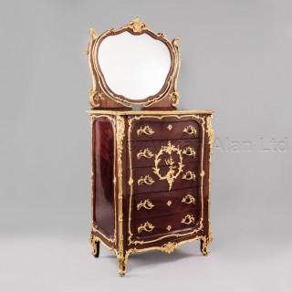 A Louis XV Style Mahogany Coiffeuse