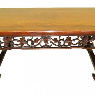 Oriental Hardwood 19th Century Coffee Table