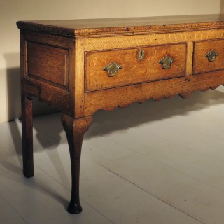 George II Oak Cabriole Legged Dresser Base