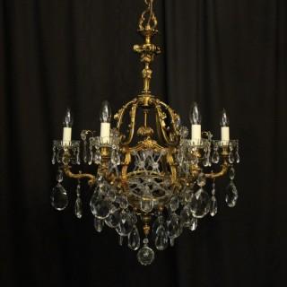 French Gilded Bronze Antique Chandelier