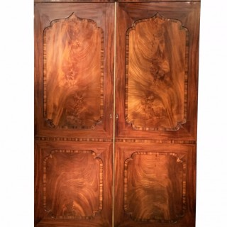 Stunning Regency Period 19th Century Mahogany Channel Islands Wardrobe