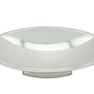 Sterling Silver Bread Dish - Art Deco - Antique George VI (1937)