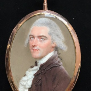 A PORTRAIT MINIATURE BELIEVED TO BE THOMAS CHASE,  A MADRAS CIVIL SERVANT