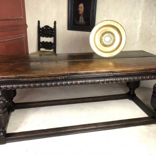 16th Century Oak Draw Leaf Table