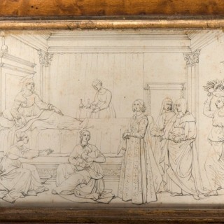 Pencil Drawings From Wall Paintings Italy, C. 1800