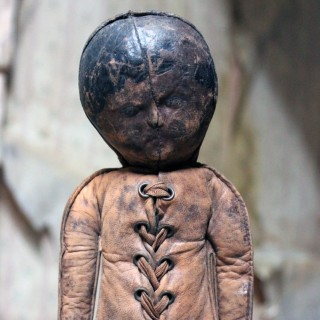 A Rare American Leather Doll by Gussie Decker c.1903-09
