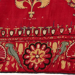 Antique Indian embroidered dress band