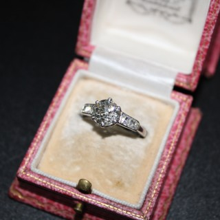 1.60ct Diamond Platinum Solitaire Ring, English circa 1930