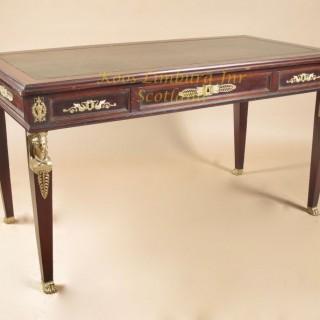 French mahogany Bureau-Plat, writing table
