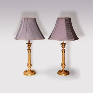 Pair Of Early 19th Century Ormolu Candlesticks