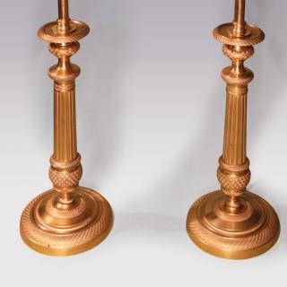 Pair Of Early 19th Century Ormolu Candlesticks