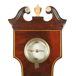 George IV Mahogany Barometer