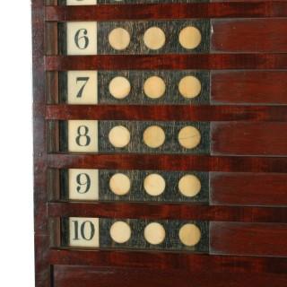 Rare Georgian 'Life Pool' Scoreboard