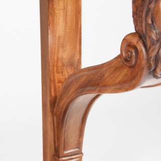 19th Century Northern Italian Grand-Scale Mahogany Console Table