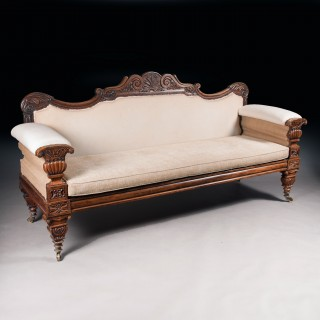 Fine Regency Mahogany Sofa After John Taylor