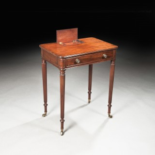 Fine George III Regency Period Mahogany Gillows of Lancaster Chamber Table, Ex Thickthorn Hall.