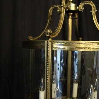 French Large Gilded Bronze Antique Lantern