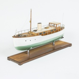 CASED MODEL OF A TRAWLER BY F W MURRAY