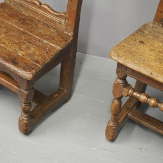 Pair of French Oak Nuns or Praying Chairs