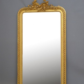 Large 19th Century French Giltwood Mirror