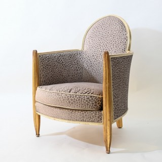 Art deco club chair attributed to Paul Follot