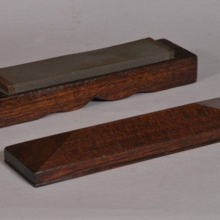 Antique Treen Early 20th Century Honing Stone