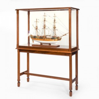The Royal Caroline in a Glass and Mahogany Case on Stand
