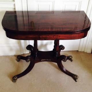 Antique Rosewood Tea Table