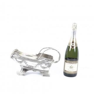 Antique Victorian Silver Plated Wine Bottle Cradle c.1870