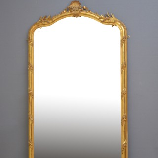 Tall XIXth Century Giltwood Mirror