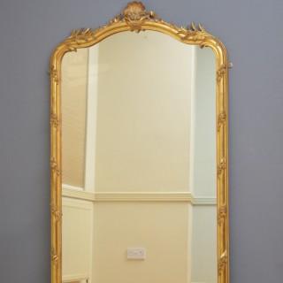 Tall XIXth Century Giltwood Mirror