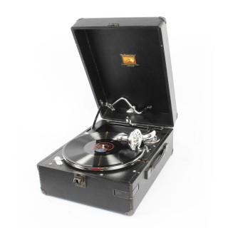 Antique Portable HMV Gramophone Mod 102E 1934 20th Century