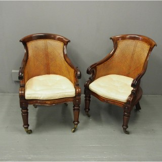 Pair of George IV Bergere Armchairs