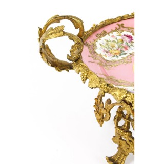 Antique Ormolu Mounted Sevres Chateau De Bizy Porcelain Centrepiece 1843 19th C