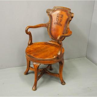 Oak Revolving Desk Chair