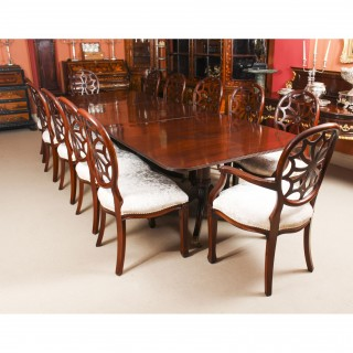 Antique Regency Revival Dining Table C1900 U0026 12 Bespoke Dining Chairs
