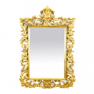 Antique Decorative Giltwood Mirror 19th Century 100 x 69cm
